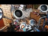 Установил китайскую музыку на мопед Kawasaki VN 750. Тест 1
