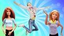Куклы Барби Школа гимнастики переезжает в новый зал! Видео для девочек.
