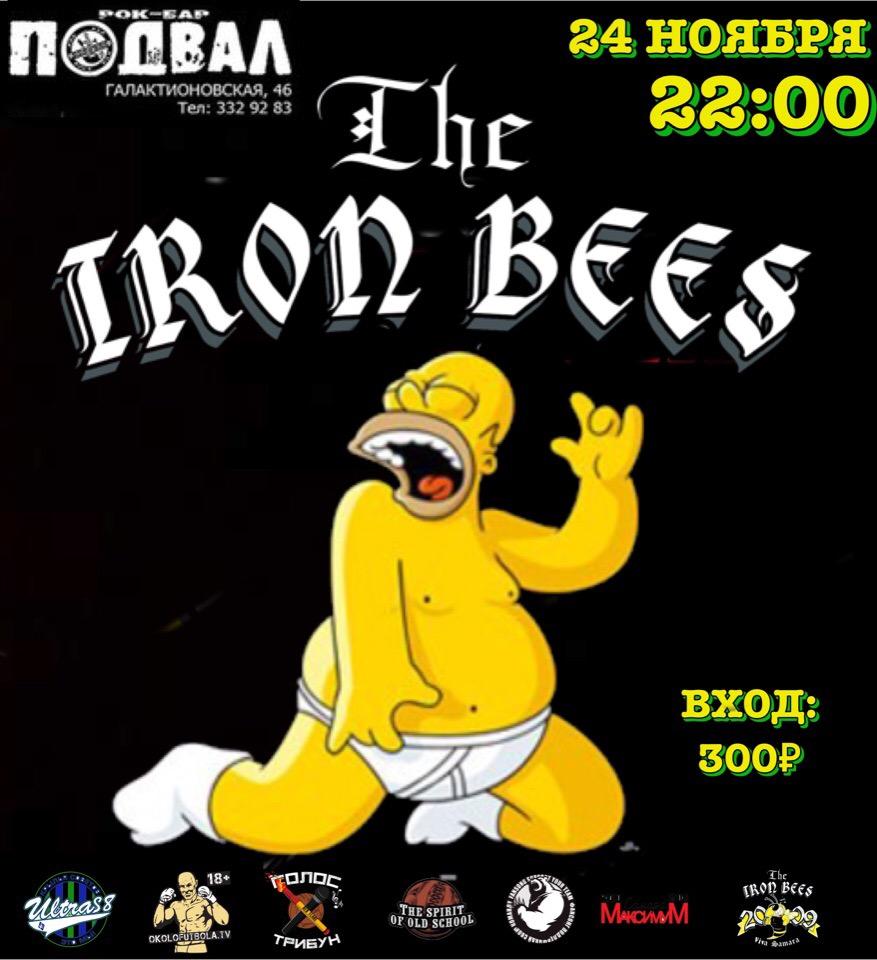 Афиша Самара IRON BEES/24.11/ночью в рок-баре Подвал