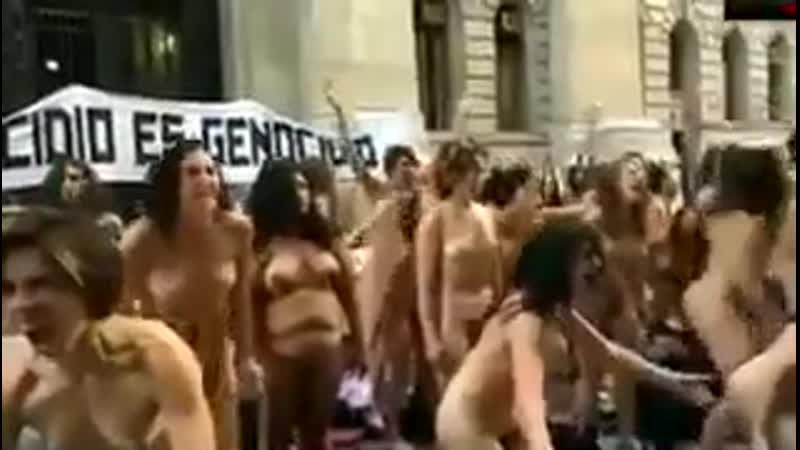 Протест в Аргентине против насилия над женщинами