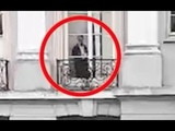 Ghost Of Old Victorian Woman Caught Watching Boy Riding His Bike From Window Of Mansion