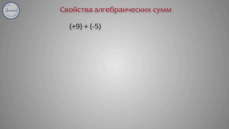 Математика 6 класс Алгебраическая сумма и её свойства