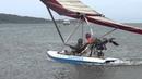 Доча решила пролететь на летающей лодке.