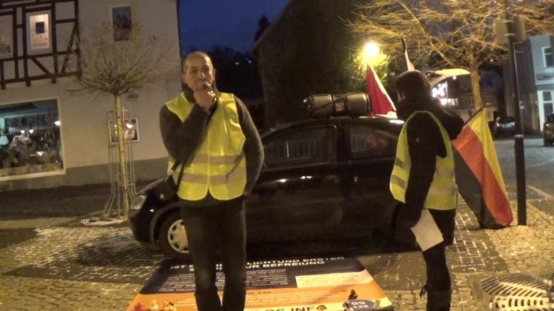 Gilet Jaune Gelbwesten staatenlos.info Kundgebung in Zella Mehlis Sachsen 2.Januar 2019