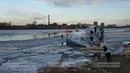 78 ru публикует видео поисково спасательной операции на Неве, где провалился мальчик