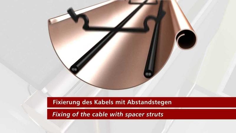 Нагревательный кабель со встроенным термостатом для обогрева труб и водостоков Hemstedt.