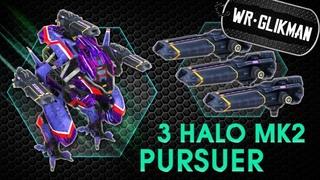 War Robots. Pursuer 3 Halo MK2. Скорость, Холод, Дробовик.