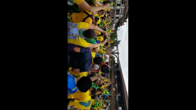 Бразильские фанаты ФИФА 2018 в ресторане АльпенХаус