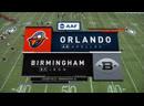 AAF 2019 / Week 05 / Orlando Apollos - Birmingham Iron / 1H / EN