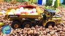 Мультик про машинки. Самосвал, Бульдозер и Экскаватор собирают конфеты на свалке