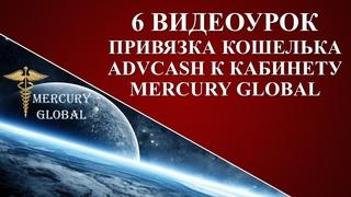 Как привязать кошелек ADVcash к Mercury Global