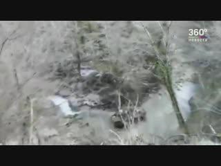 Падения БТРа с российскими военными в ущелье в Абхазии