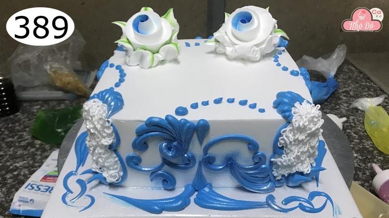 Chocolate cake decorating bettercreme vanilla (389) Học Làm Bánh Kem Đơn Giản Đẹp - Xanh Đậm (389)
