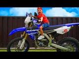Baby Biker Ride on Pocket Bike, Cross Bike, Sportbike! Stunts, Drifts in Real Life