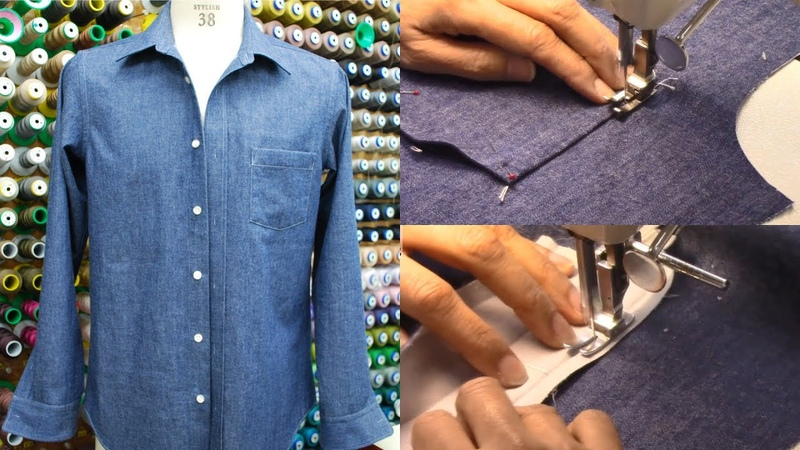 Part3「ポケット・ヨーク・剣ボロ付け」 How to sew a Classic shirt tutorial