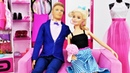 Барби и Кен идут на свидание. Прическа и макияж для Барби.