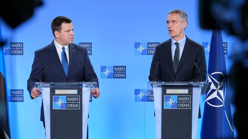 NATO Secretary General with the Prime Minister of the Republic of Estonia Jüri Ratas, 27 MAY 2019