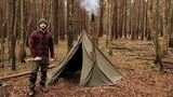 Winter Camping in a Hobbit Tent and a Woodstove