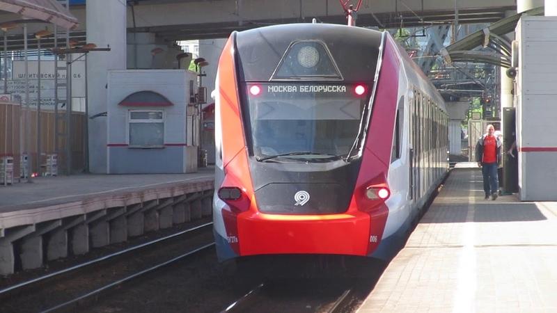 Электропоезд ЭГ2ТВ-006 Иволга платформа Тестовская 19.05.2019