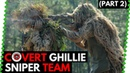 Covert Ghillie Sniper Team 🐍 Silverback SRS (100 meters with EXTREME sidewind)