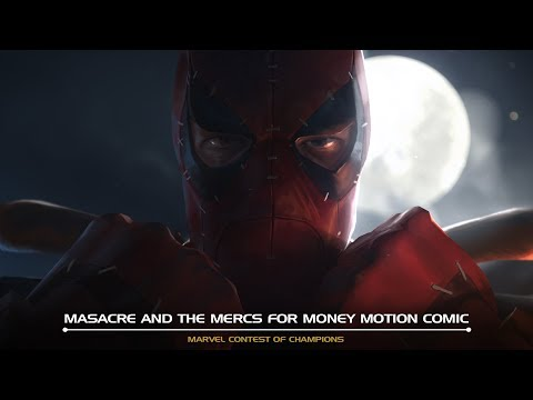 Masacre and the Mercs for Money Motion Comic Marvel Contest of Champions