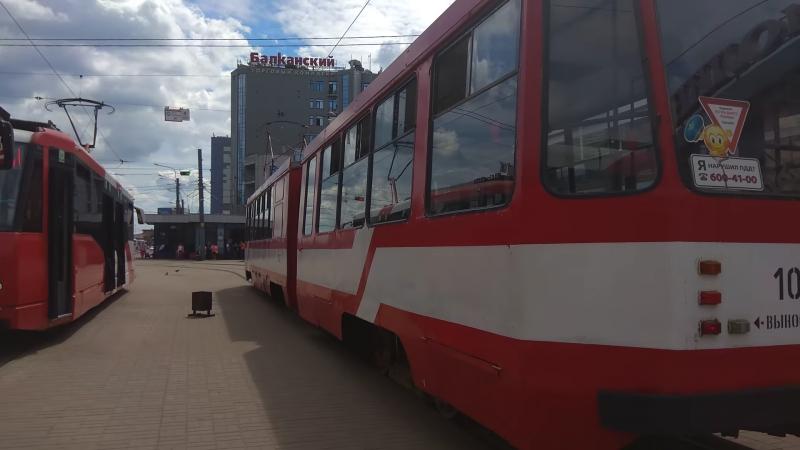 Трамвай, маршрут №62 ЛВС-97К б.1027 (15.06.2018) Санкт-Петербург