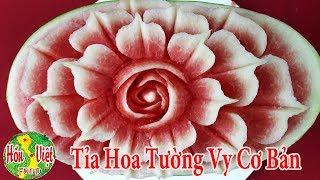 ✅ Tỉa Hoa Tường Vy Đơn Giản Bày Cỗ Trung Thu | Hồn Việt Food