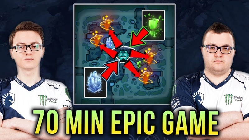 Miracle- Storm Spirit vs MinD_ContRoL Bristleback EPIC Battle 70 Min Match - Dota 2 ROONS