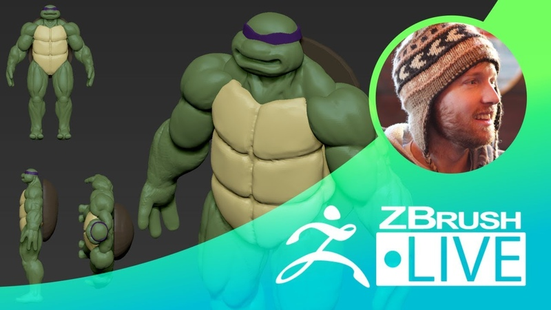 Teenage Mutant Ninja Turtle Fan Art Block Out- Timothy Rapp ZBrushLIVE Episode 47