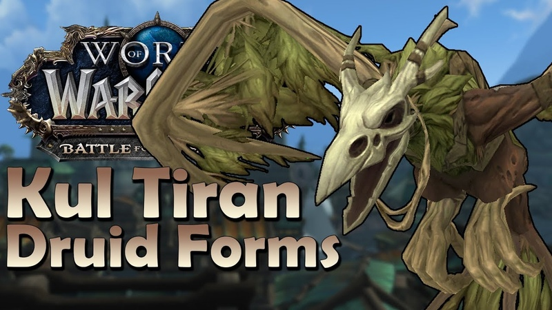 Kul Tiran Druid Forms In Game Preview Battle for Azeroth