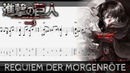 [TAB] 【Attack on Titan Season 3 ED】 Requiem der Morgenröte - Fingerstyle Guitar Cover