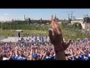 Исландские болельщики устроили праздник в московском парке «Зарядье». Часть 1