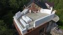 Монолитная сфера дома в конструкторе Лего из несъёмной опалубки