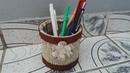 Suport de pixuri hand made Hand made crayons support