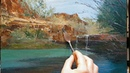 Swimming Hole Gorge How to Oil Painting Palette Knife Brush National Park Dusan