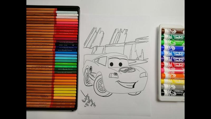Раскраска машины для детей Новые раскраски для малышей Супер герой тачки из мультфильма