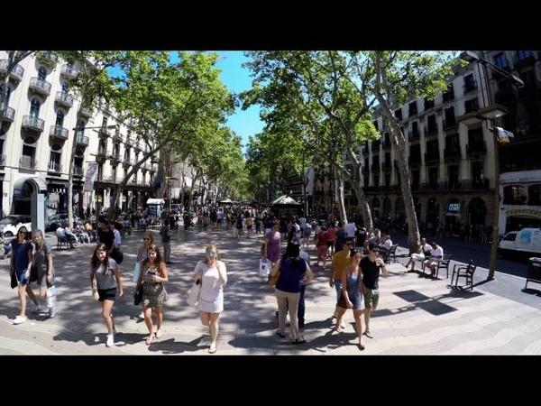 Barcelona Las Ramblas GoPro Hero4 4k