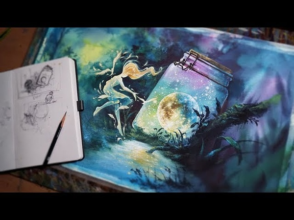 [NO.6]Watercolor,illust,drawing,speed drawing-수채화일러스트,컨셉아트