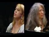 Витольд Лютославский - Вариации на тему Паганини (1941) (исп. Martha Argerich and Gabriela Montero, Verbier Festival 2007)