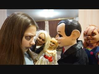 [Nepeta Страшилки] Эпичная БИТВА Баку со ЗЛЫМИ КУКЛАМИ!!! Кукла Билли 4 серия