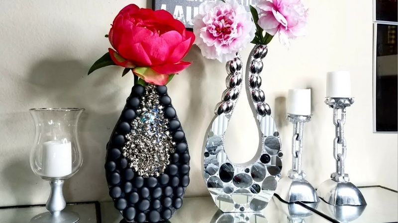 2 Quick and Easy Modern style Vases made on a Budget| Simple and Inexpensive Home Decor Ideas!