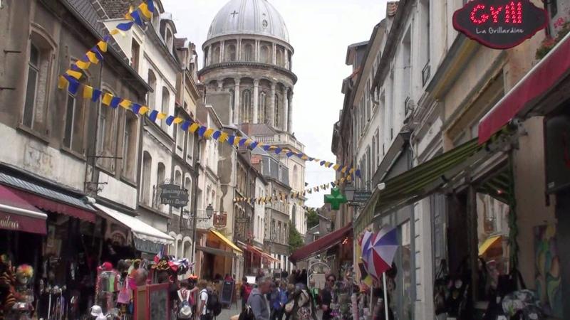 Boulogne-sur-Mer Cote dOpale (France) - walk Faites une visite HD
