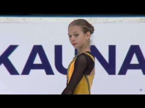 Alexandra TRUSOVA (RUS) _ Ladies SP _ JGP Kaunas 2018