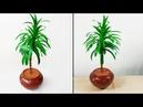How to make artificial plant for home decoration//আর্ট পেপার দিয়ে পাতাবাহার গাছ//kuti bari