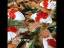 Нежная и вкусная пицца на сливочной основе с рыбой