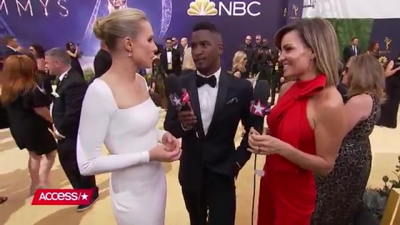 Emmys 2018 Kristen Bell Says Shell Cry If Her Best Friend Good Place Co-Star Ted Danson Wins - YouTube