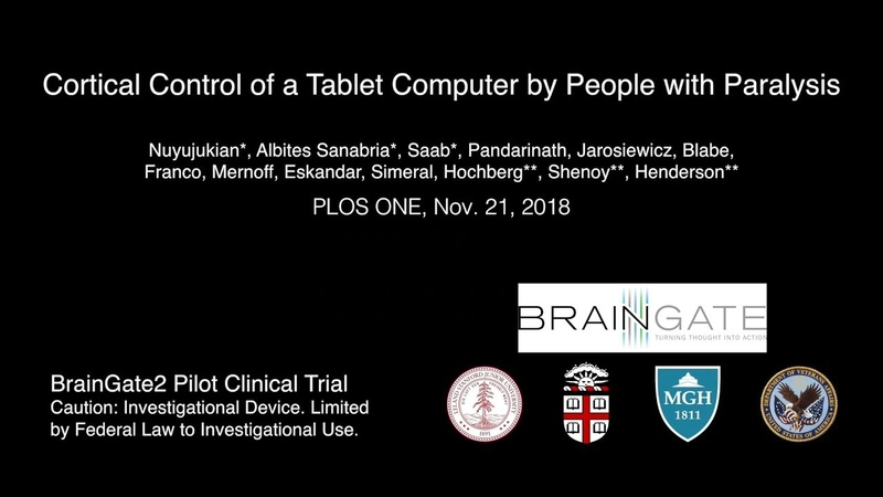 Brain-computer interface enables people with paralysis to control tablet devices