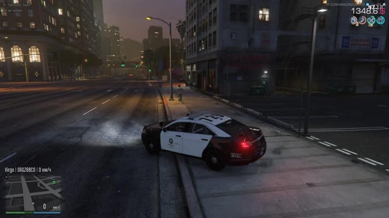 Полицейские будни | Коп на страже порядка | GTA RP