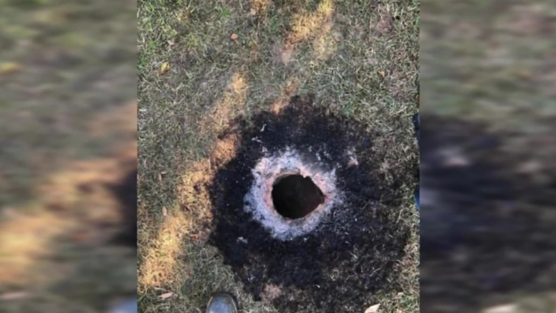 Fire Chief Discovers Giant Flaming Hole In The Ground In Arkansas