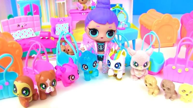 Куклы Лол Мультик! Необычные Питомцы для Семьи lol Surprise Baby Doll Видео для детей